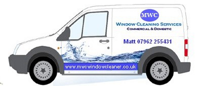 MWC window cleaning van with pure water storage tank and long reach pole